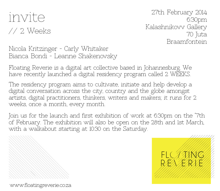 Floating Reverie Digital Art Collective Invite